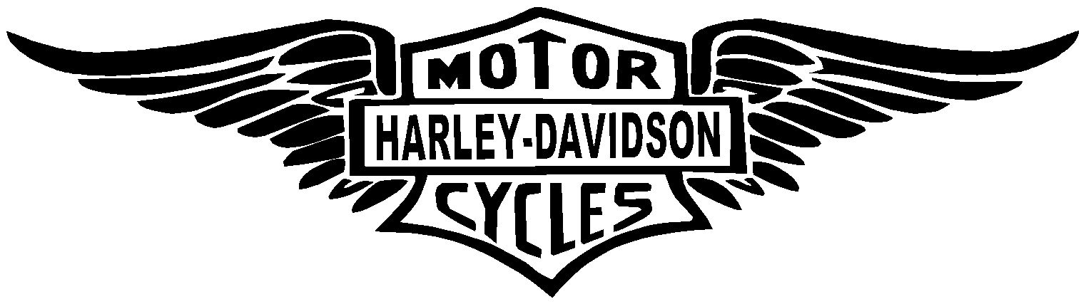 Harley davidson clipart outline. Awesome wings clip
