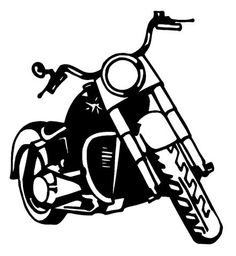Harley davidson clipart outline. Drawing at getdrawings com