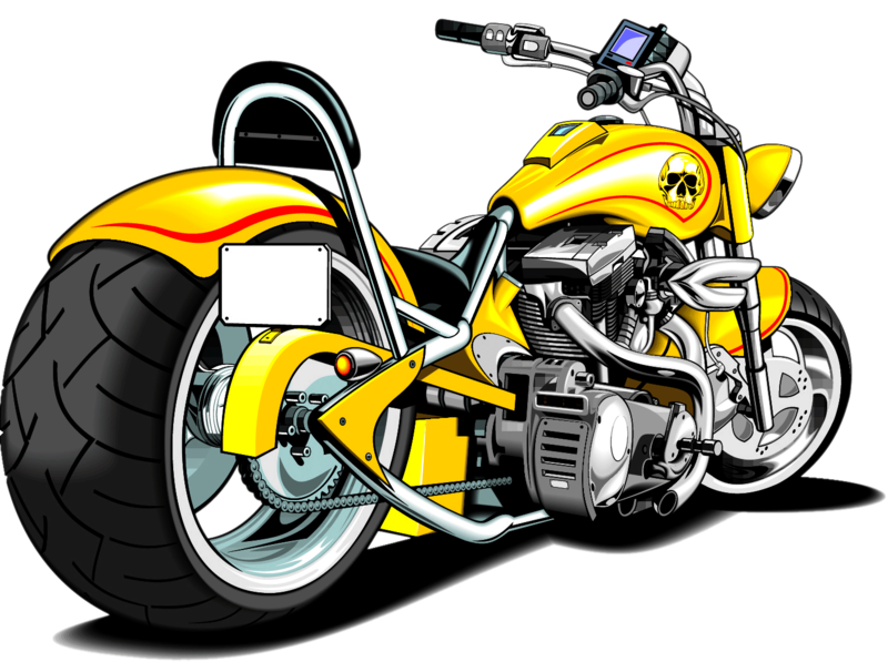 Transparent motorcycle yellow. Download free png harley