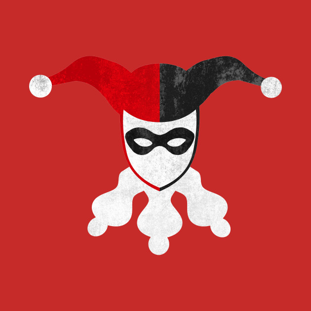 Harley quinn clipart jester. Minimalist pencil and in