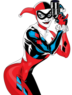Harley quinn clipart line. Tags purepng free transparent