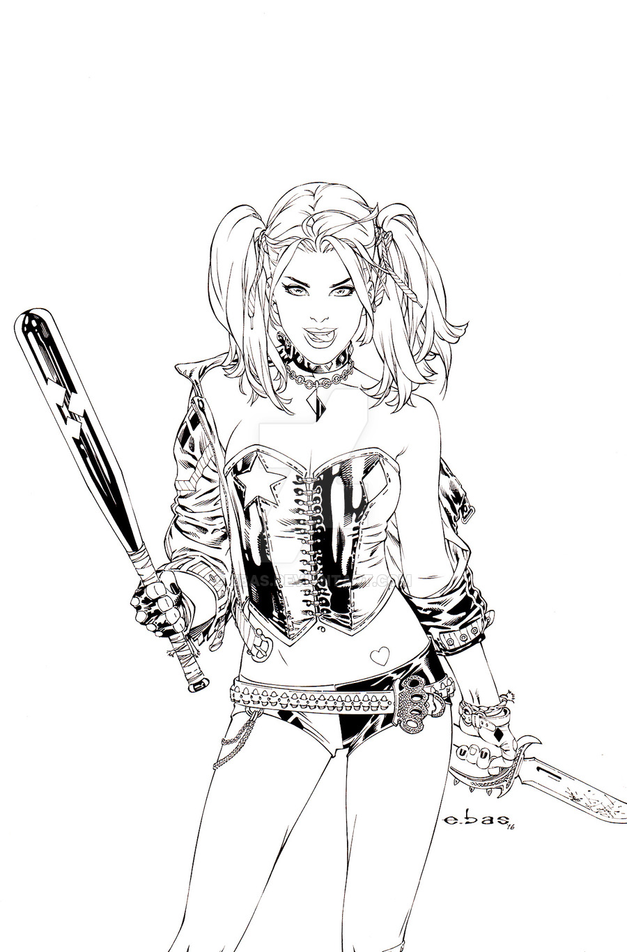 Harley quinn clipart outline. Drawing at getdrawings com