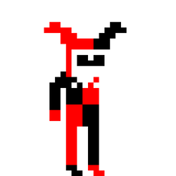 Harley quinn clipart pixel art. By isa draws on