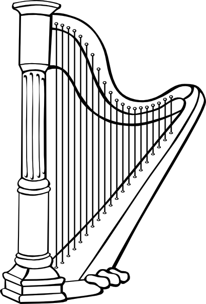 Free cliparts download clip. Harp clipart vector royalty free library