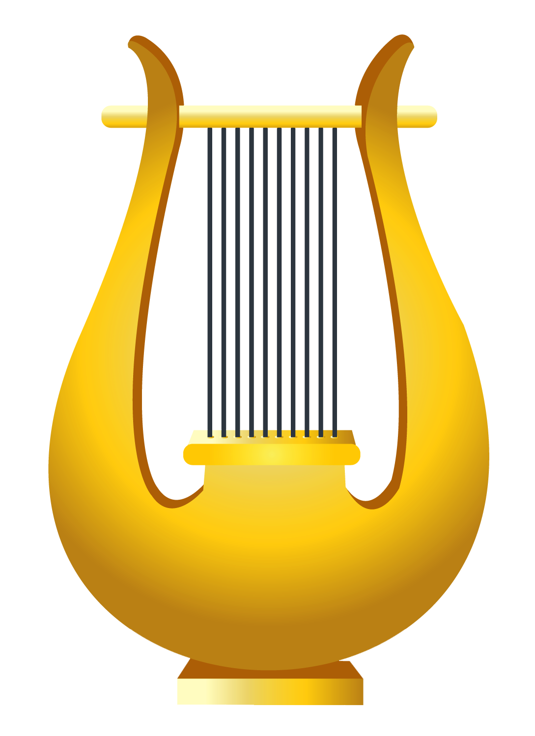 Harp clipart. Clip art library