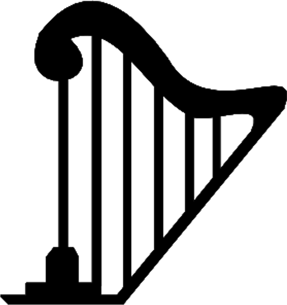 New collection digital coloring. Harp clipart png freeuse