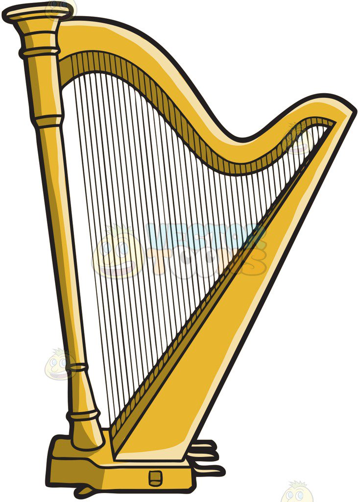 A musical instrument called. Harp clipart png royalty free download