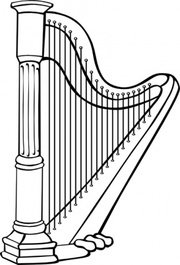 Free classical and vector. Harp clipart jpg transparent stock