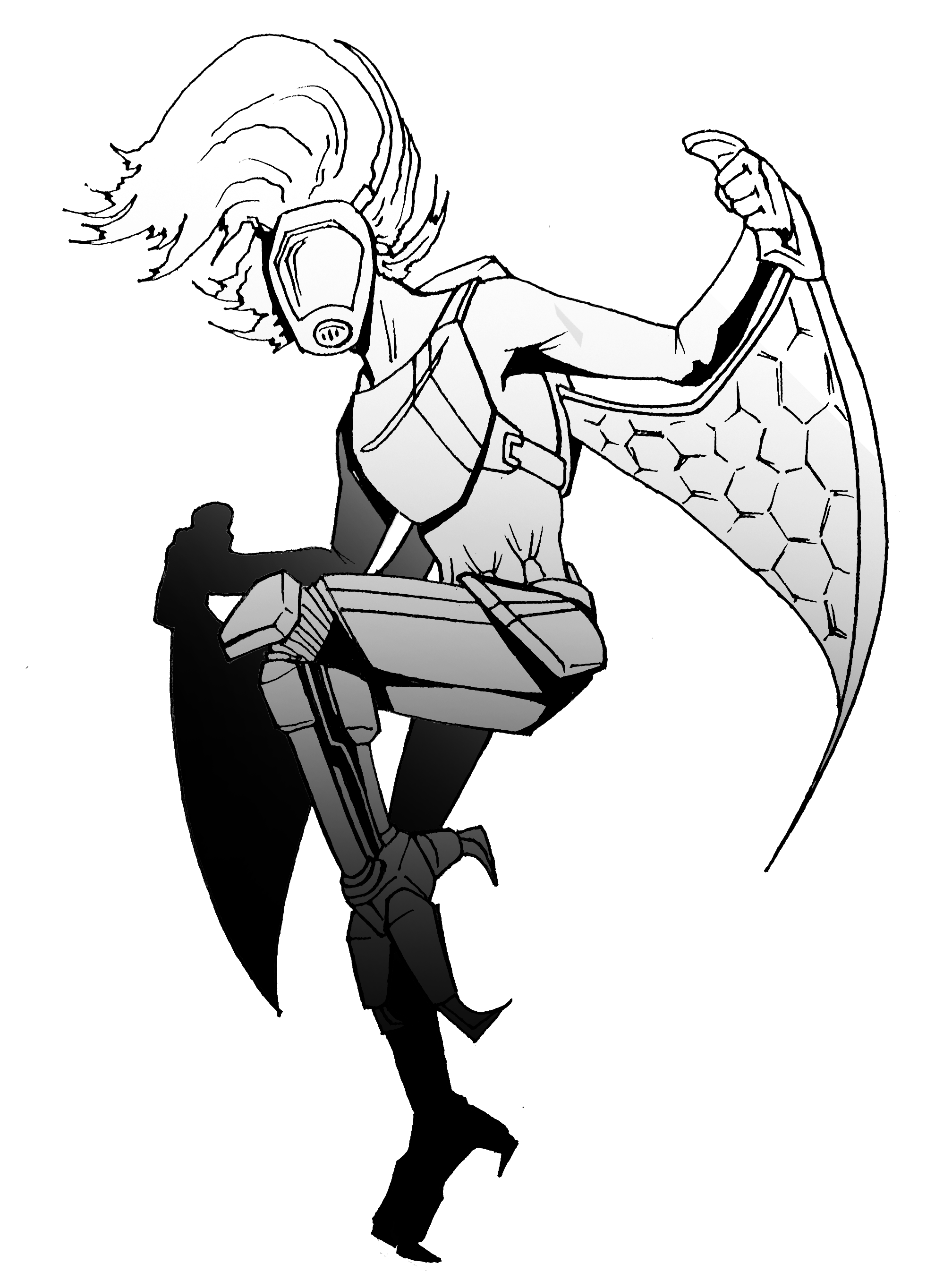 Harpy drawing. Oc friends and i