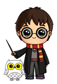 Harry potter clipart cartoon simple. Pinterest hedwig and