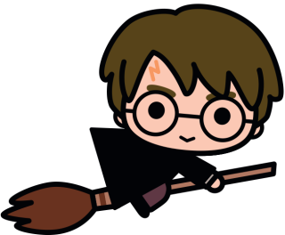 Harry potter clipart cartoon simple. Kawaii hand drawn planner