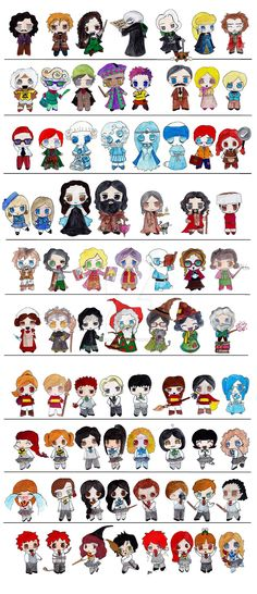 Harry potter clipart collage. The official anime versions