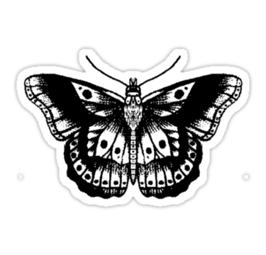 Db e f bc. Harry styles butterfly tattoo png clip art free