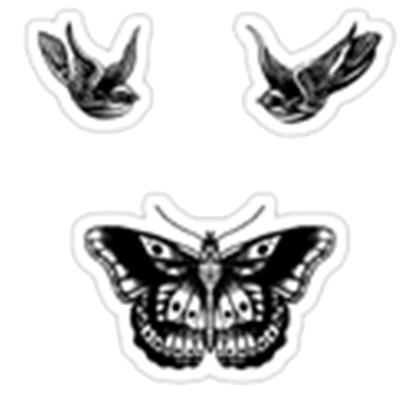 Harry styles butterfly tattoo png. Transparent tattoos roblox