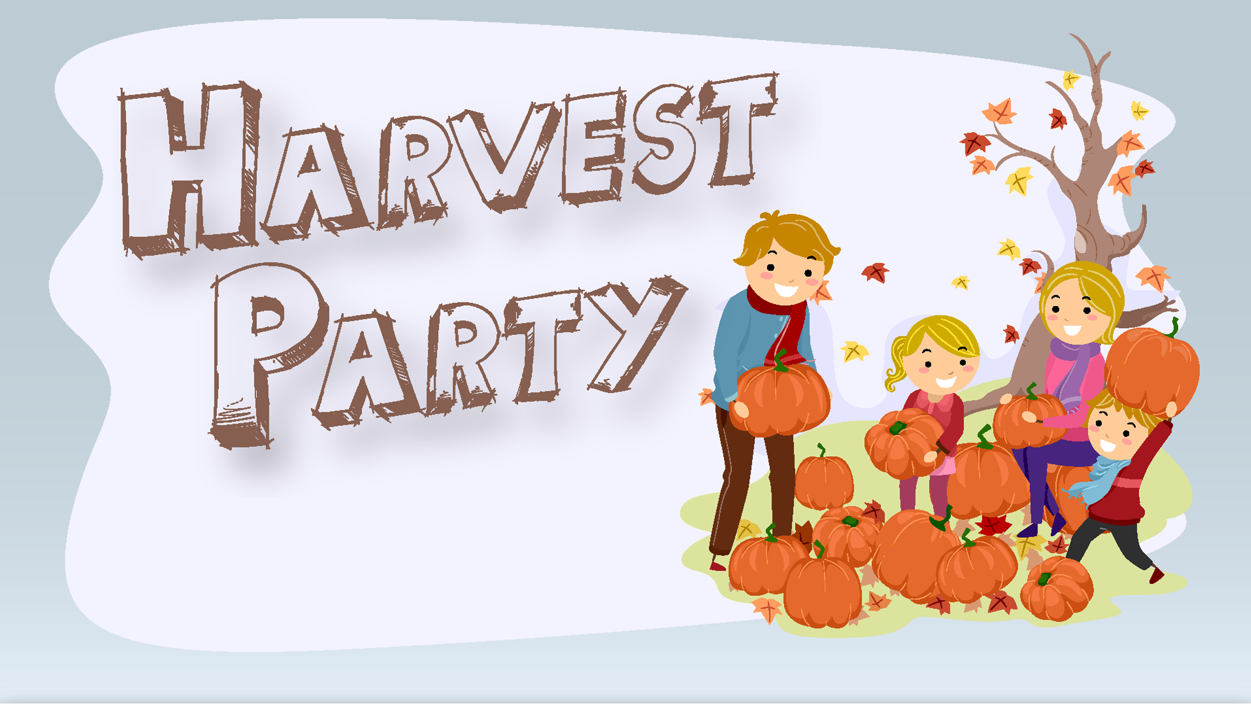 Harvest clipart church harvest. Party with boys girls