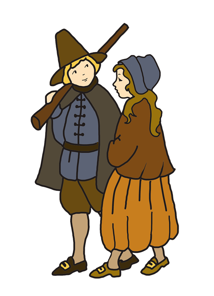 Harvest clipart motive. Happy thanksgiving drawing pilgrim