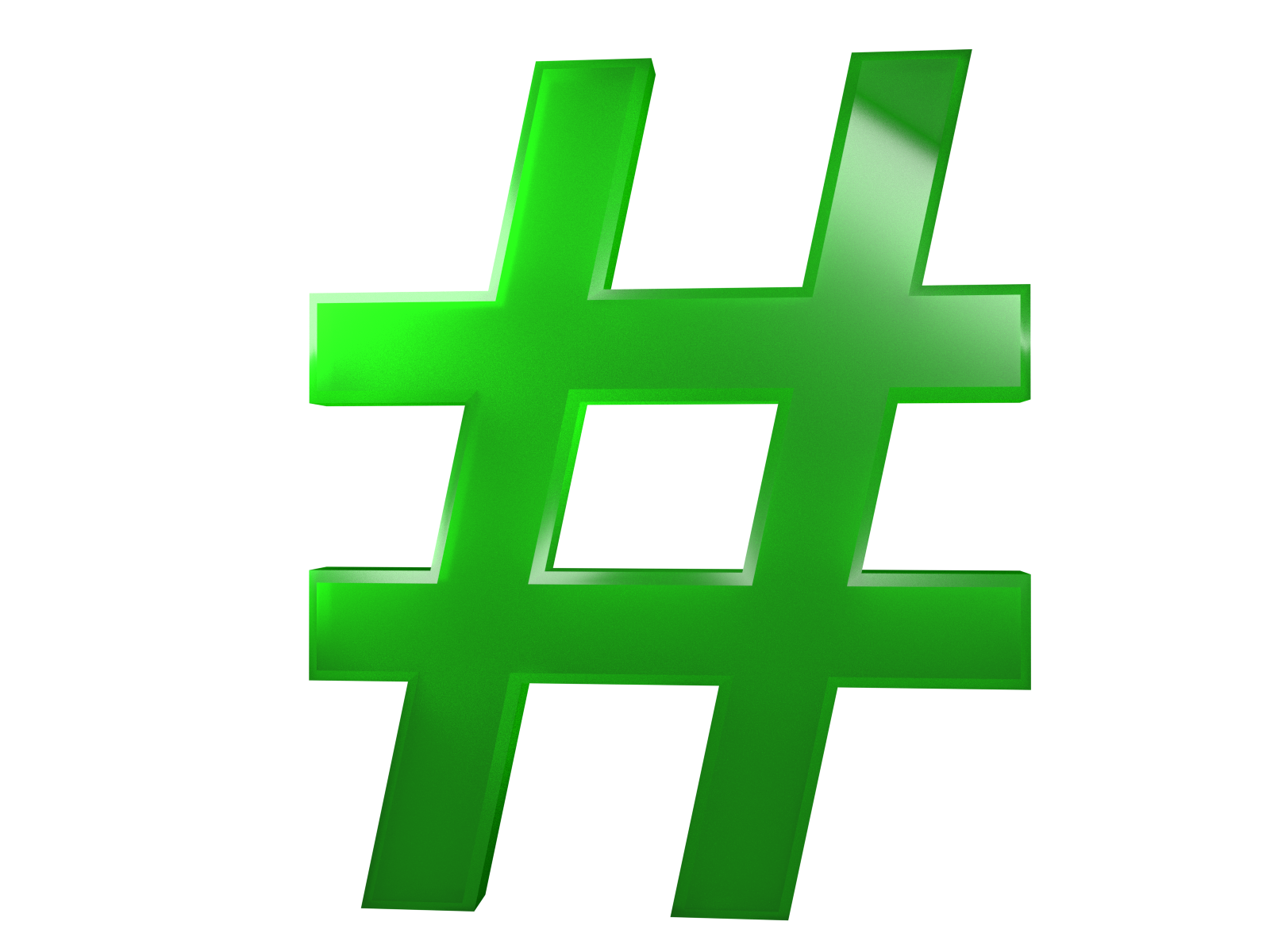 Hashtag 3d png. Park high res files