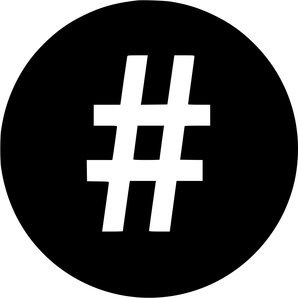 Hashtag vector svg. Png icon free download