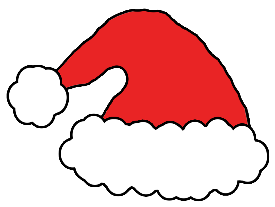 Hat clipart printable. Santa pencil and in