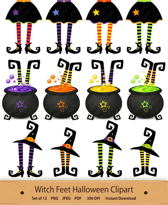 Hat clipart printable. Halloween witches hats witch