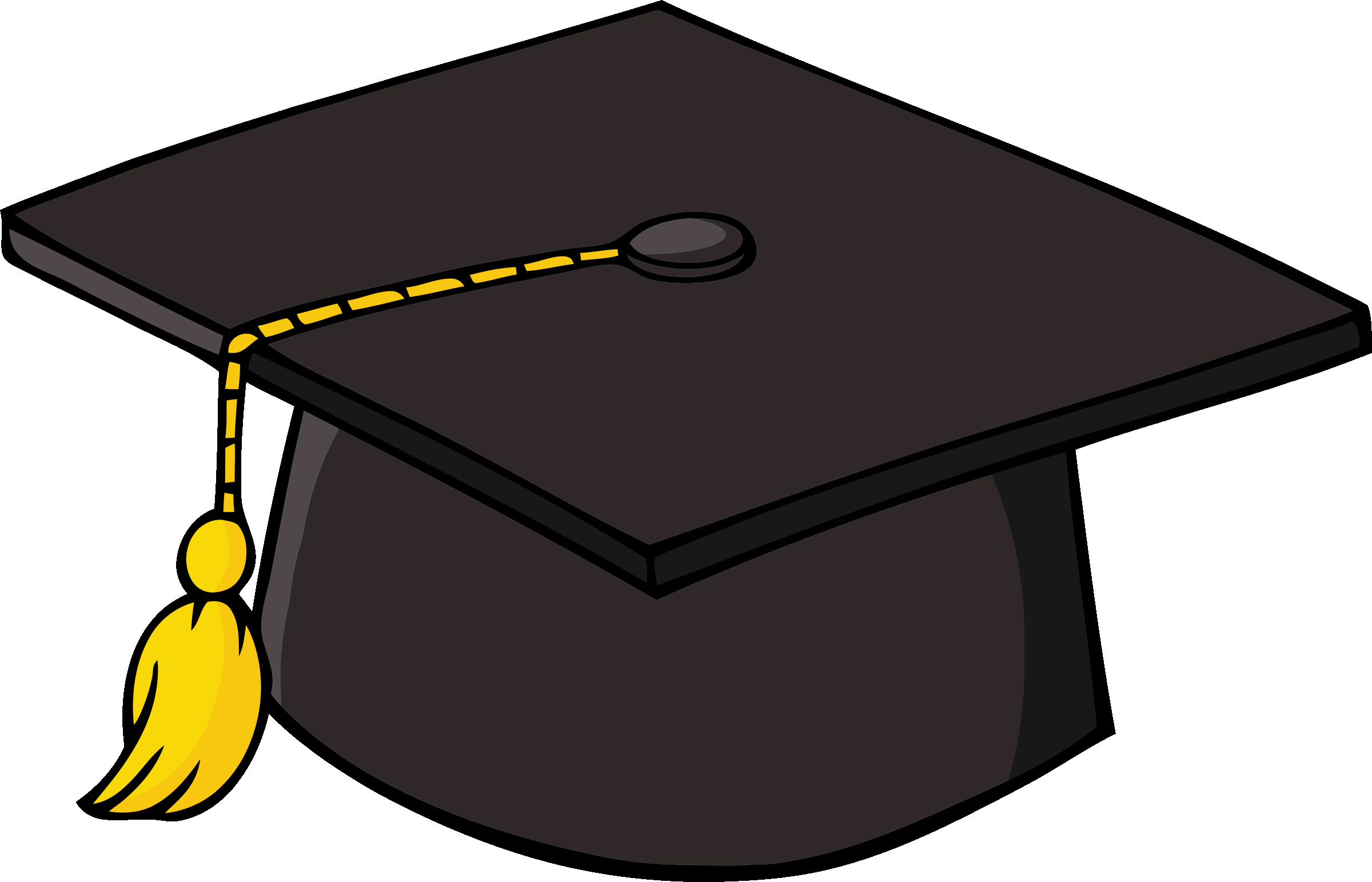 Hat clipart student. Graduate girl in graduating