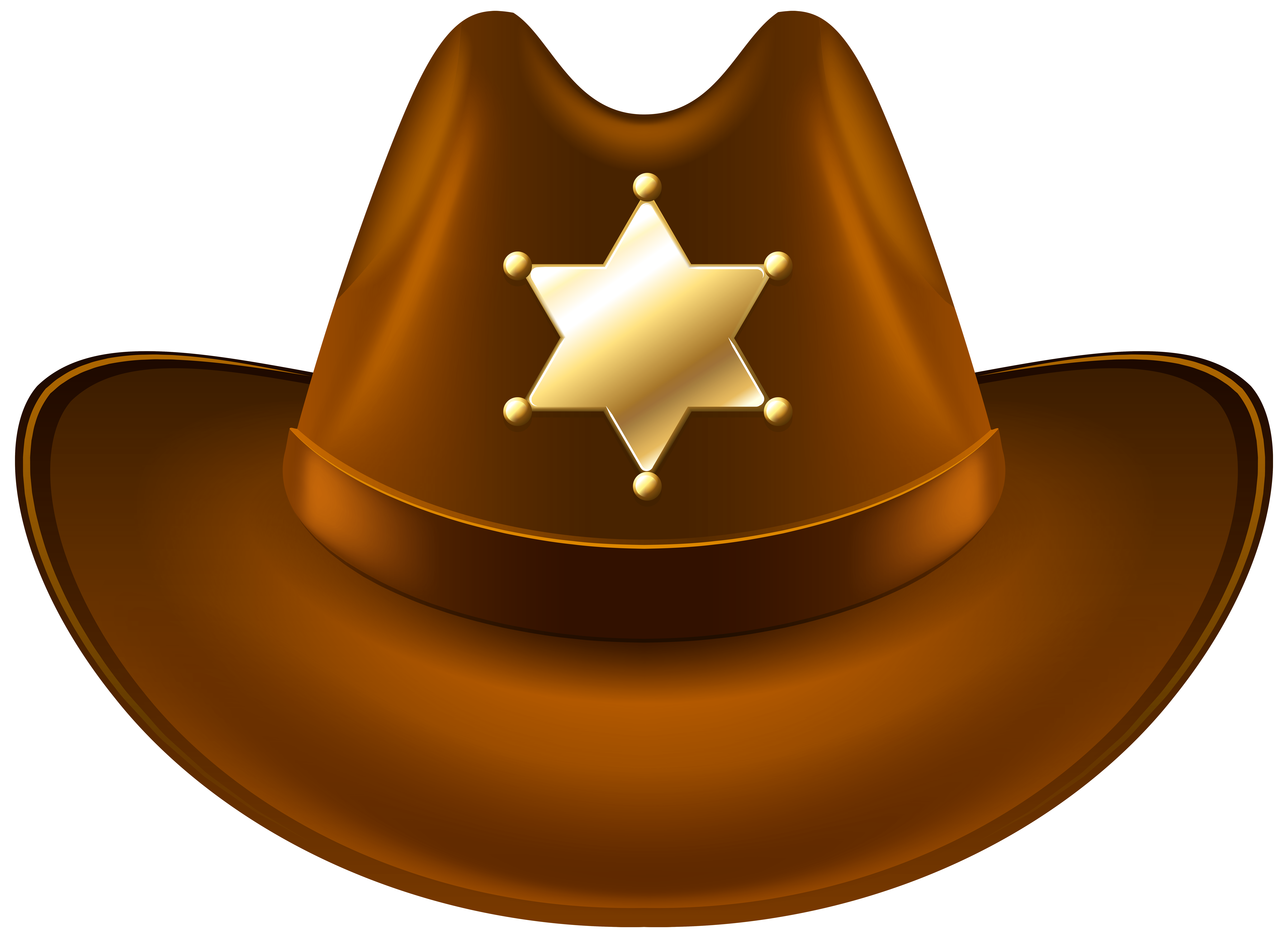 Hat clipart transparent background. Cowboy with sheriff badge