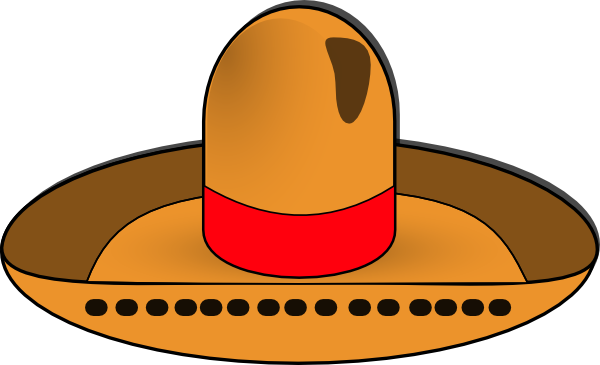 Hat clipart transparent background. Sombrero clip art at