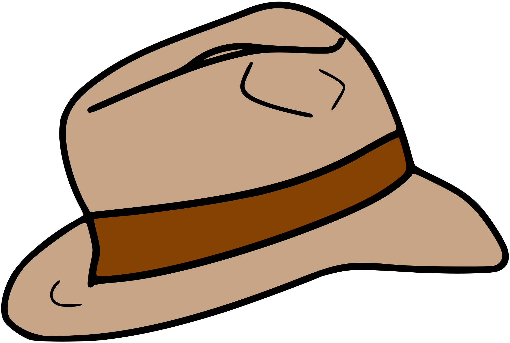 Hat svg fedora. File wikimedia commons open
