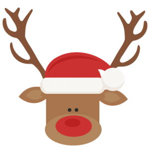 Hat svg christmas. Reindeer with santa cutting