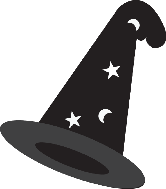Minus brujas pinterest clip. Hat svg harry potter clip black and white library