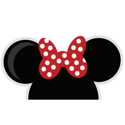 Hat svg minnie. Mouse ears girl cut