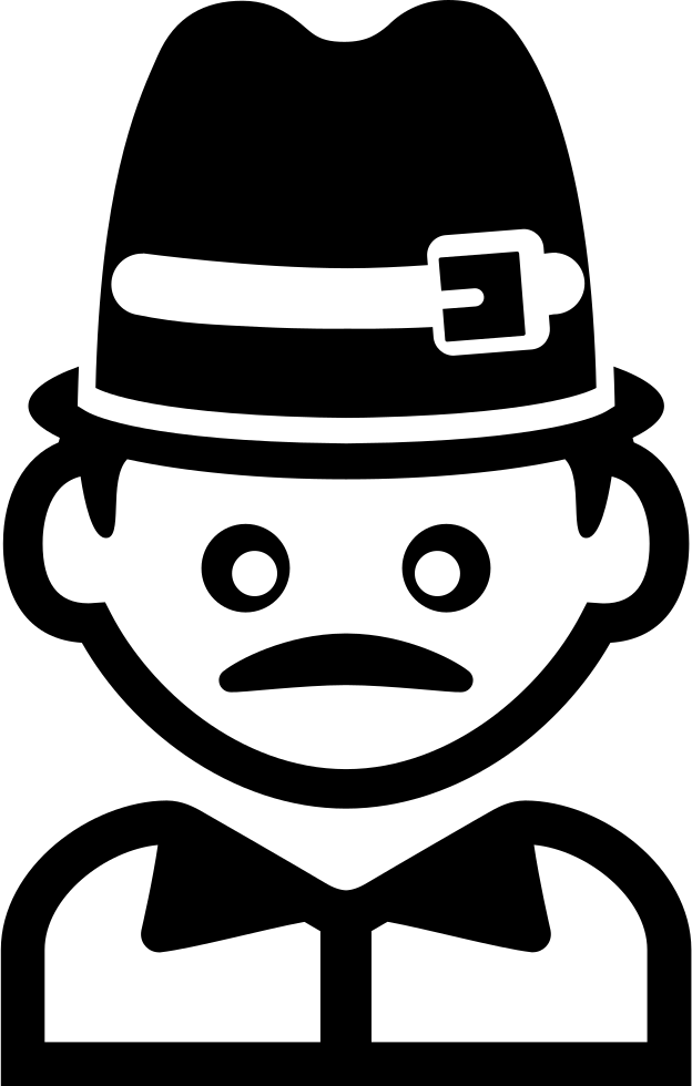 Hat svg small. Man with a and