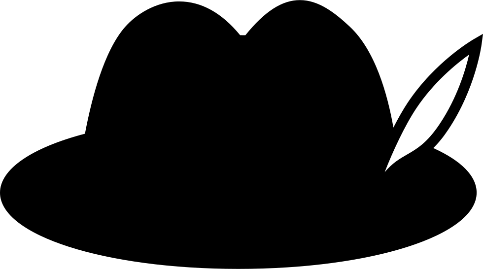 Hat svg small. German with feather png