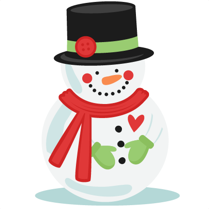 Hat svg snow man. Snowman with button hate