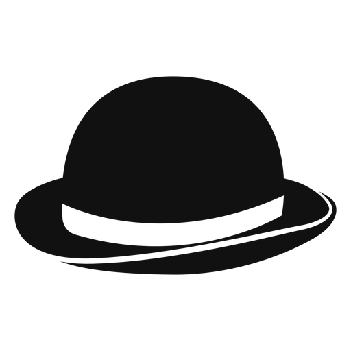 Vector sombrero transparent background. Bowler hat flat icon