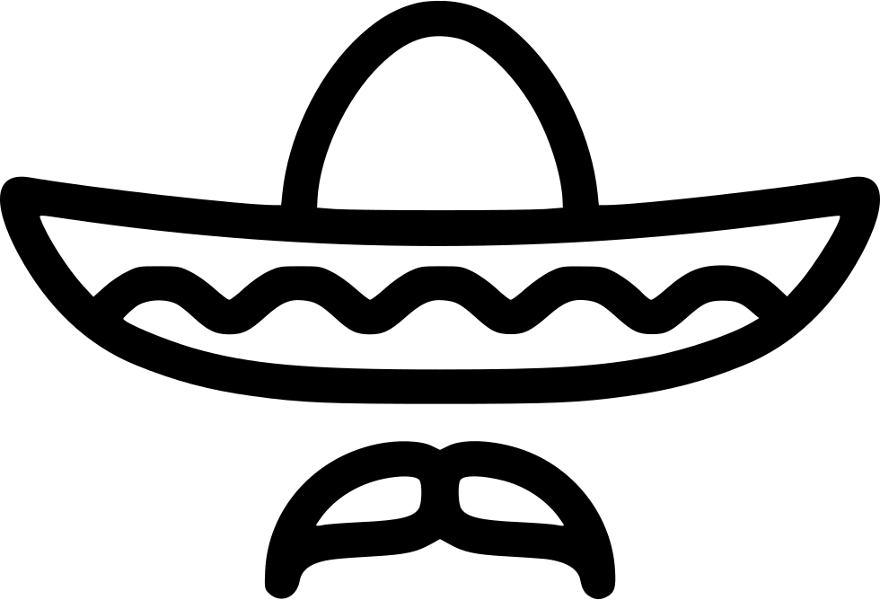 Hat svg sombrero. Collection of free download