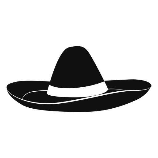Hat svg sombrero. Flat icon transparent png