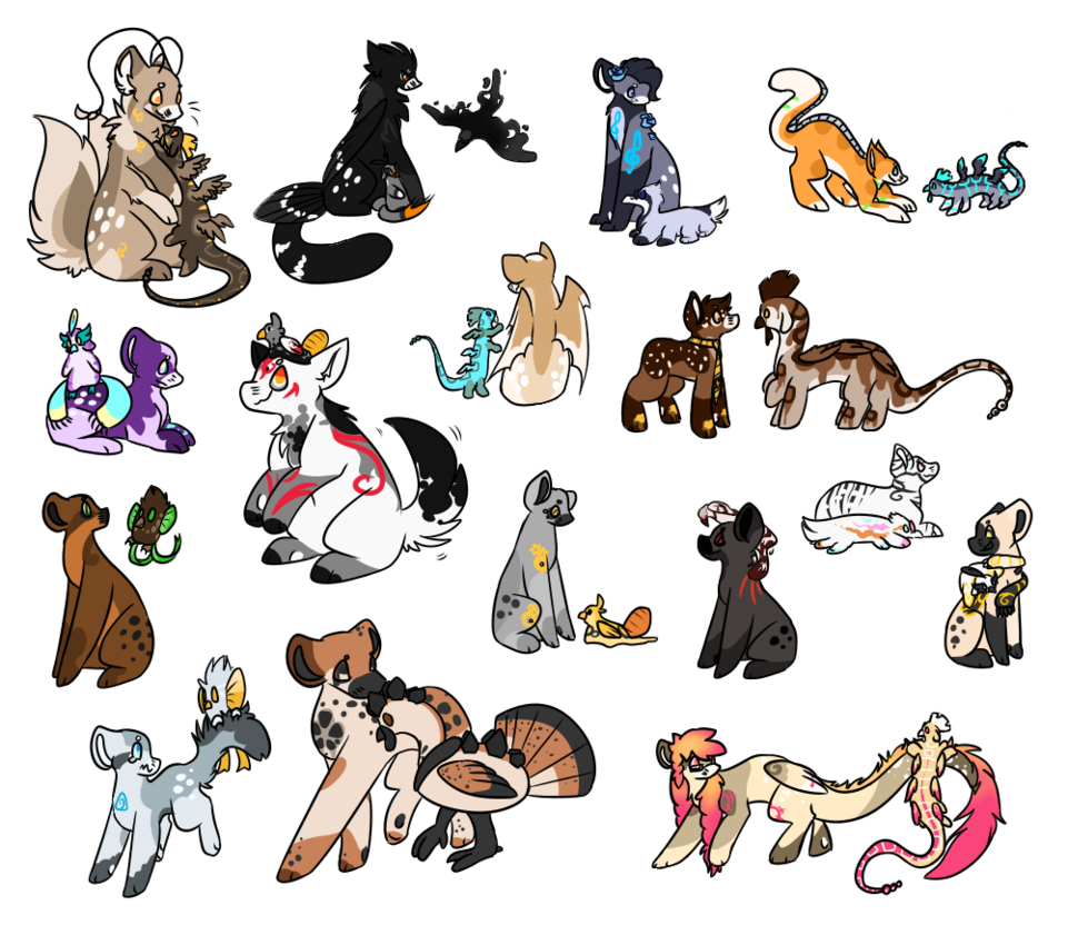 Hatch drawing animal. New friends by pileofkittens