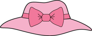 Hats clipart. Pink girls hat with