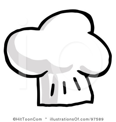 Cap clipart chief. Chef hat black and