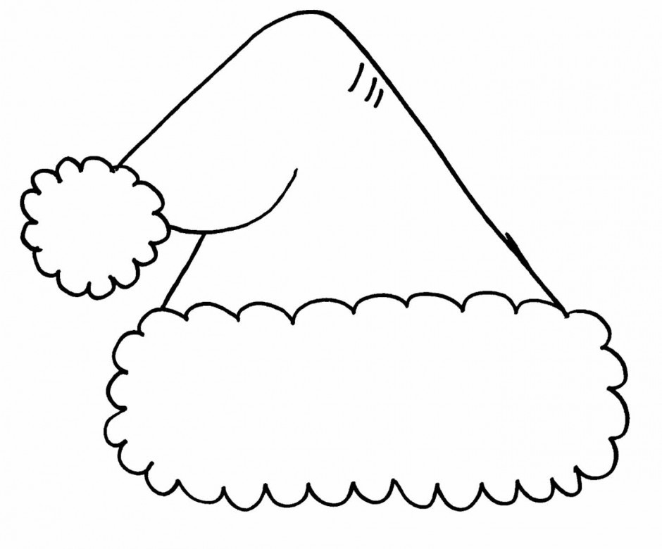 Hats clipart black and white. Collection of santa
