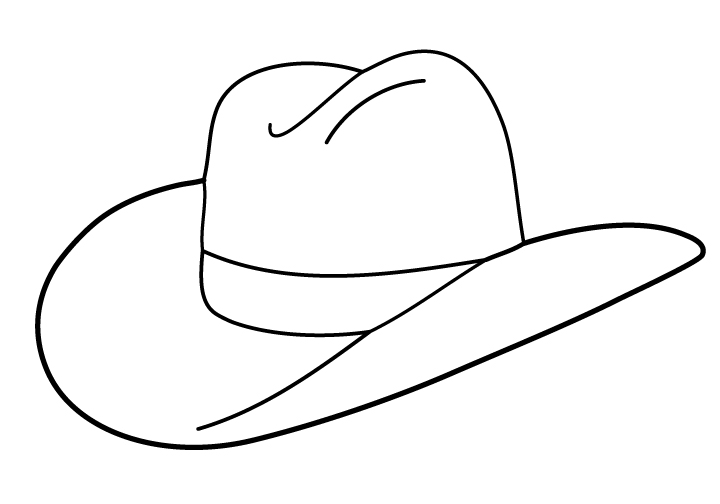 Hats clipart black and white. Cowboy hat panda free