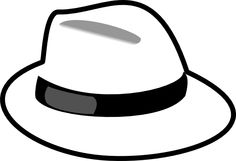 Hats clipart black and white. Party hat panda free