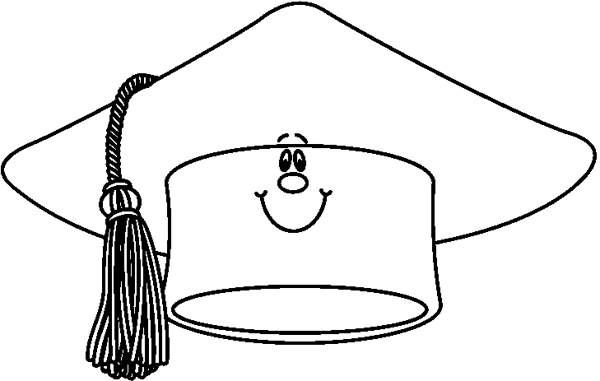 Hats clipart black and white. Graduation cap hat clipartsgram