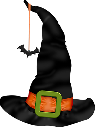 Halloween witch hat png. A day element scrap