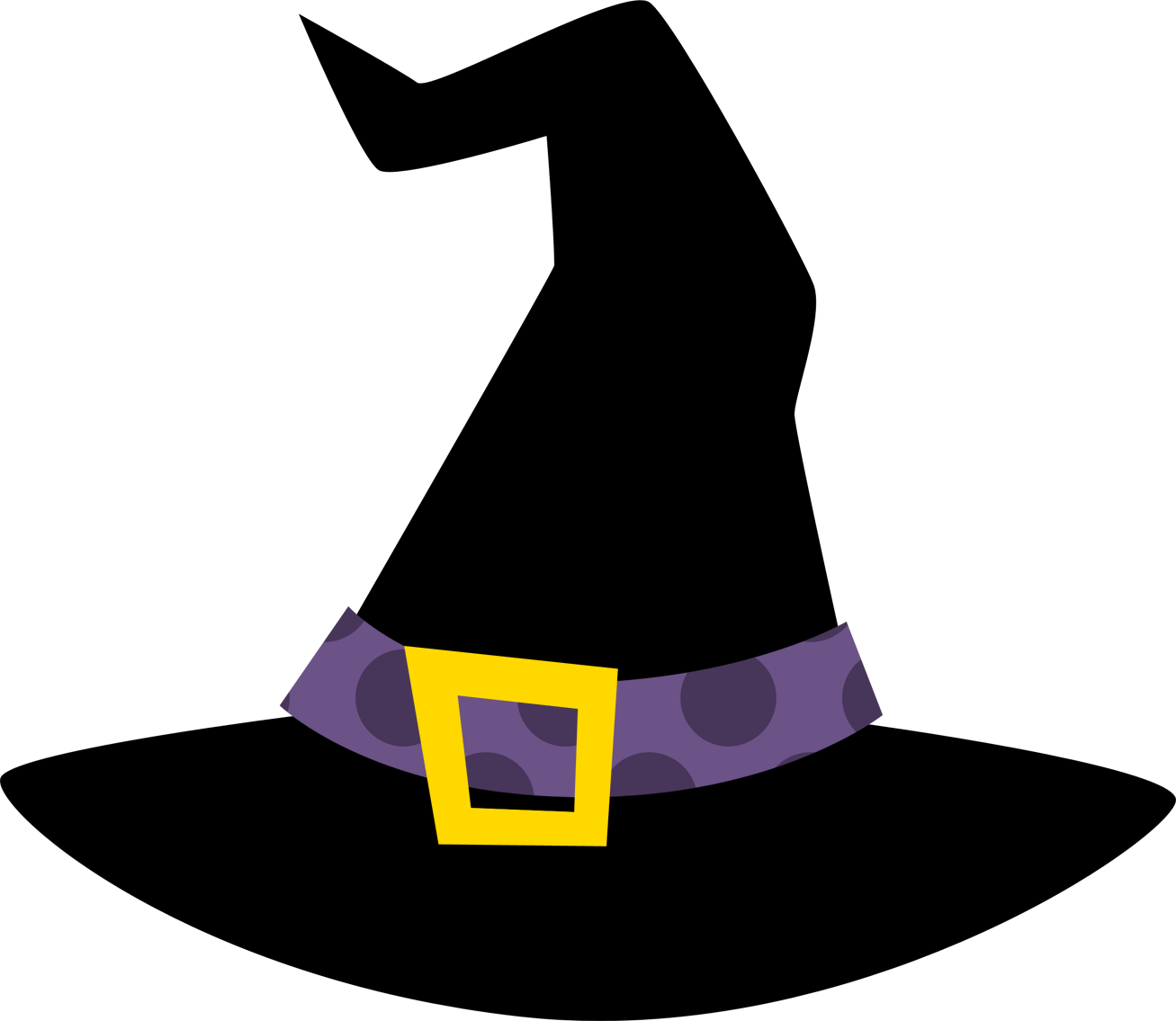 Drawing witch hat. Halloween clipart
