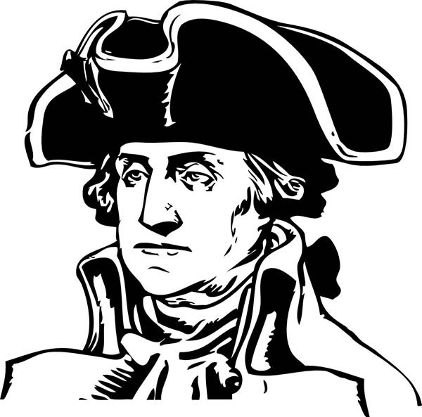 Hats clipart revolutionary war. George washington during the