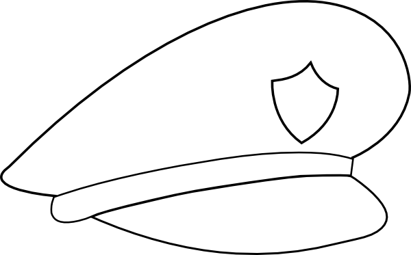 Cap clipart chief. Police officer hat panda