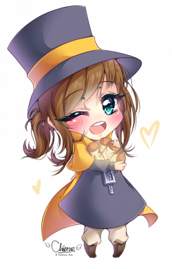 Hats drawing kid. Hat a in chibi