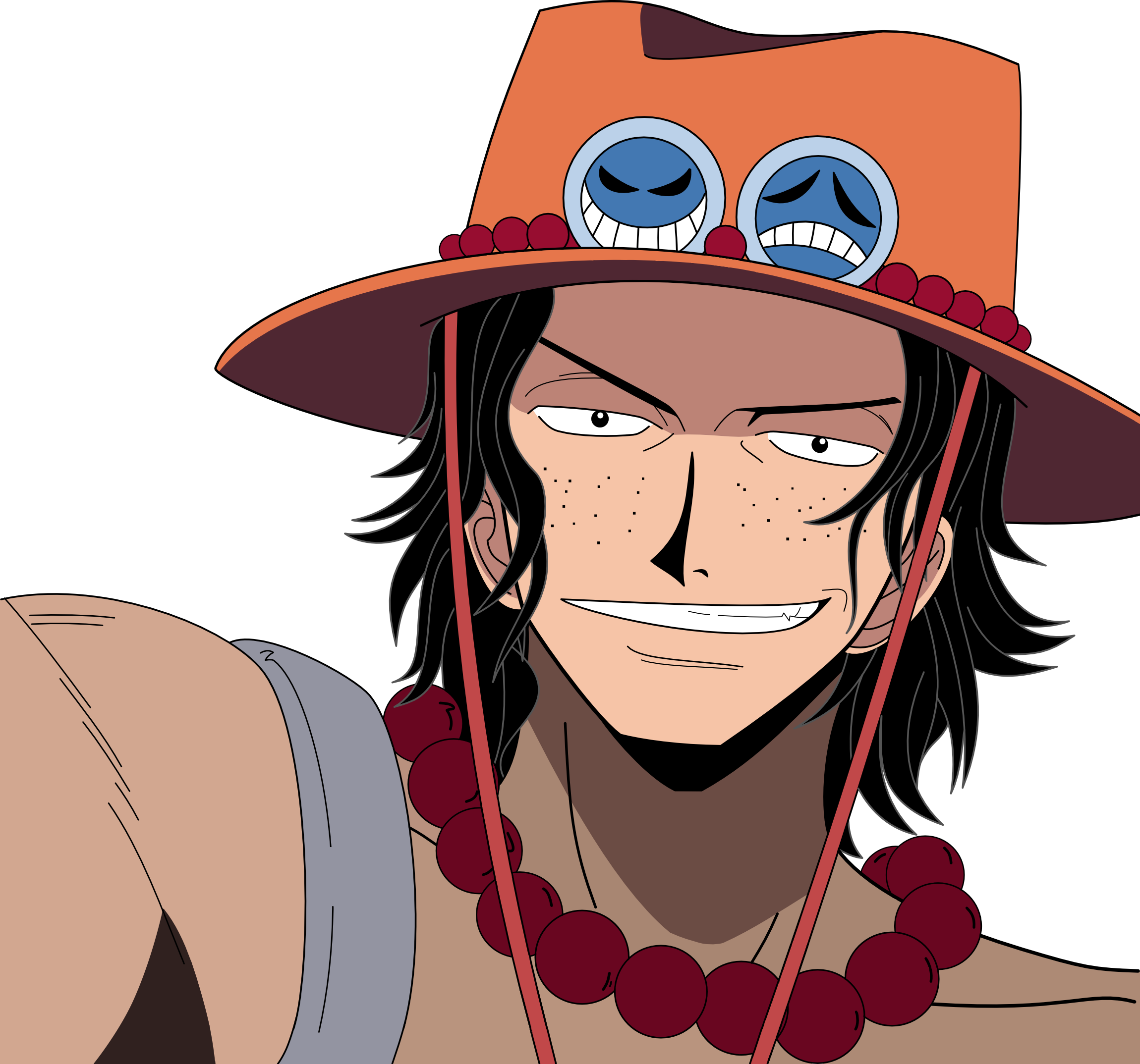 Hats drawing ace. Portgas d render by